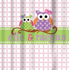 Shower Curtains-2 Owl Girls