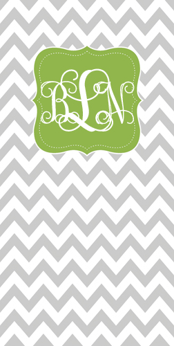 Beach Towels-Gray Chevron with Green Frame