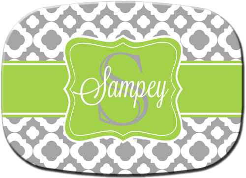 Platter-Gray Thick Clover with Green