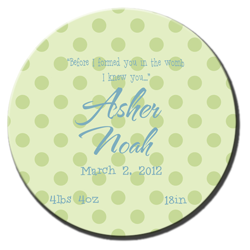 Plate-Green Dot Birth Info