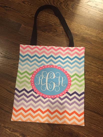 Personalized Handled Tote (click here)