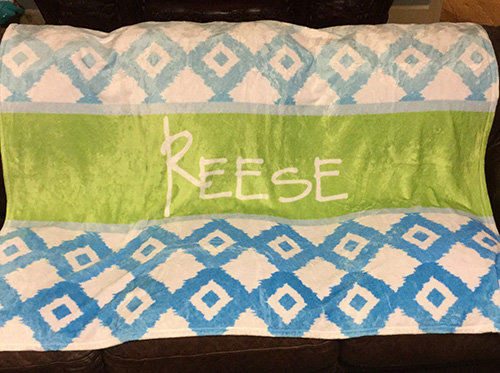 LARGE or EXTRA LARGE Personalized Blanket-Custom Design