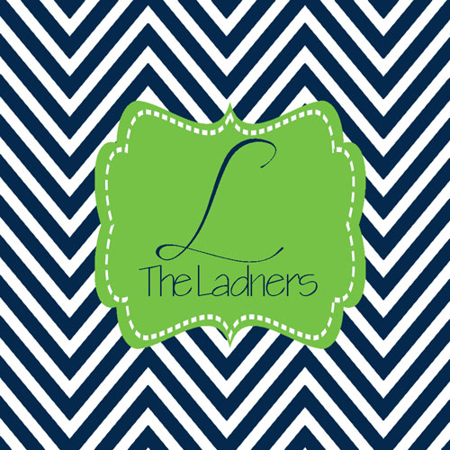 Gift Enclosure Cards-Navy Chevron