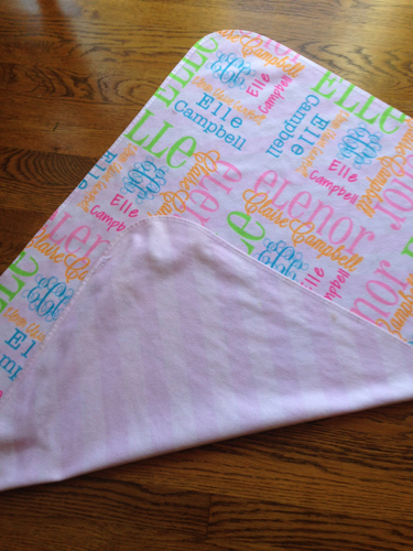 Baby Blanket-DOUBLE SIDED Receiving Blanket
