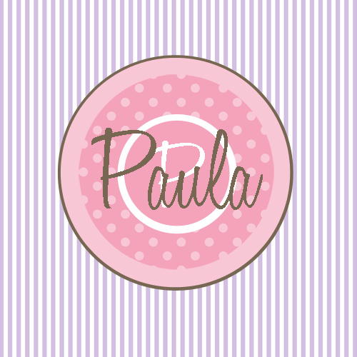 Gift Enclosure Cards-Purple Stripes Pink Dot
