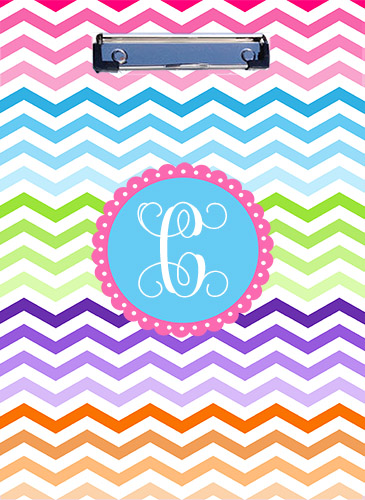Clipboard-Rainbow Chevron