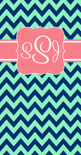 Beach Towels-Navy Teal Chevron