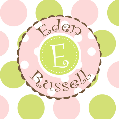 Gift Enclosure Cards-Pink and Green Pastel Dots