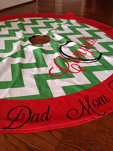 Christmas Tree Skirt-Design your own!