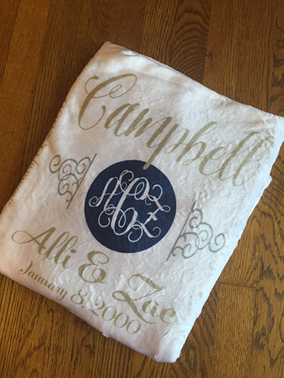 LARGE or EXTRA LARGE Personalized Blanket-WEDDING/ANNIVERSARY