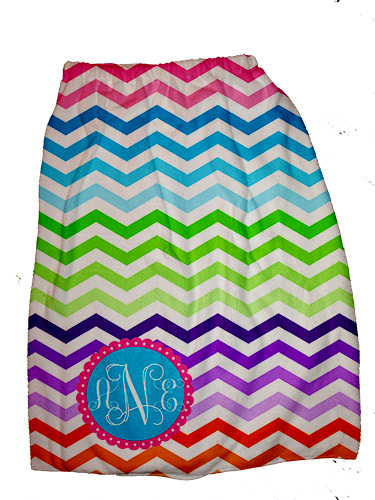 Towel Spa Wraps-Rainbow Chevron
